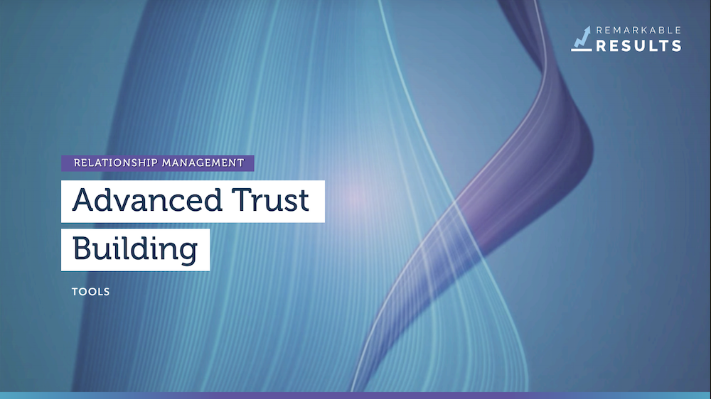 relationship trust building tools