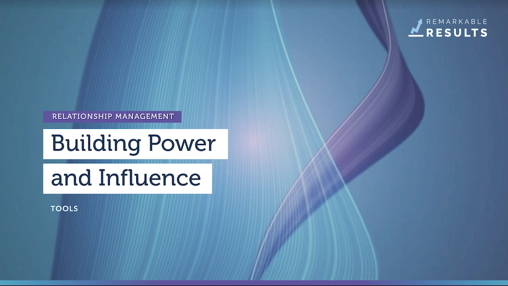 Power and influence tools