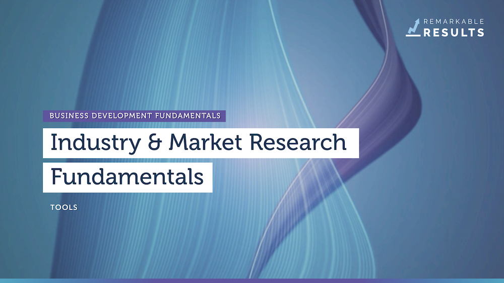 Industry and Market Research Fundamentals