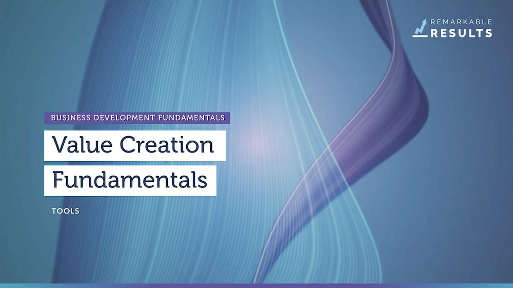 Value Creation Fundamentals tools
